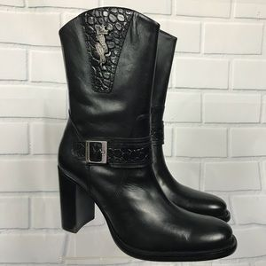NEW Harley Davidson After Riding Leather Boots